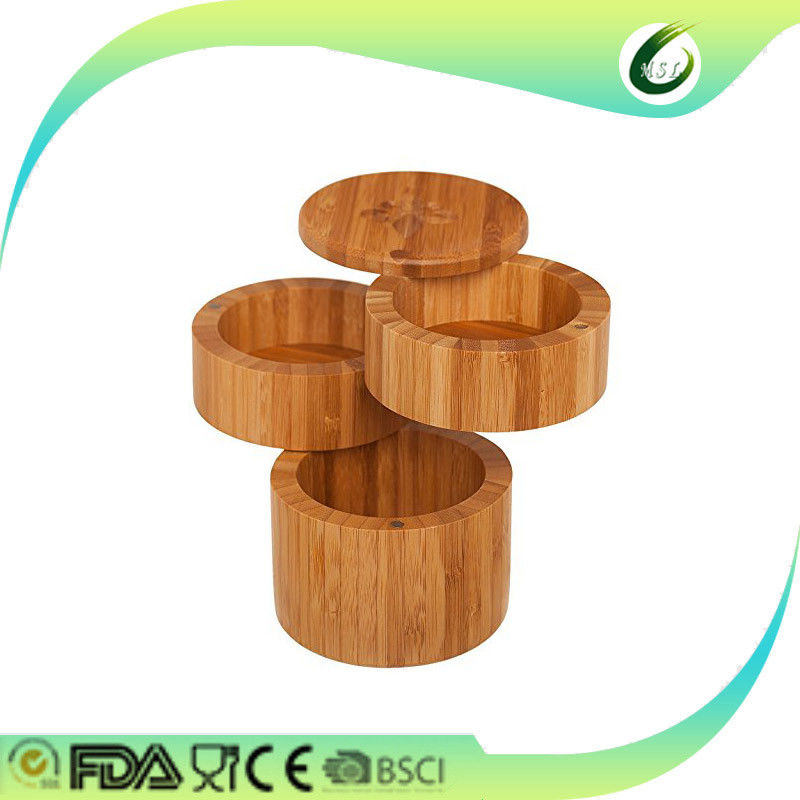 Reliable Totally Bamboo Salt And Storage Box Custom Shaped With Magnet Base