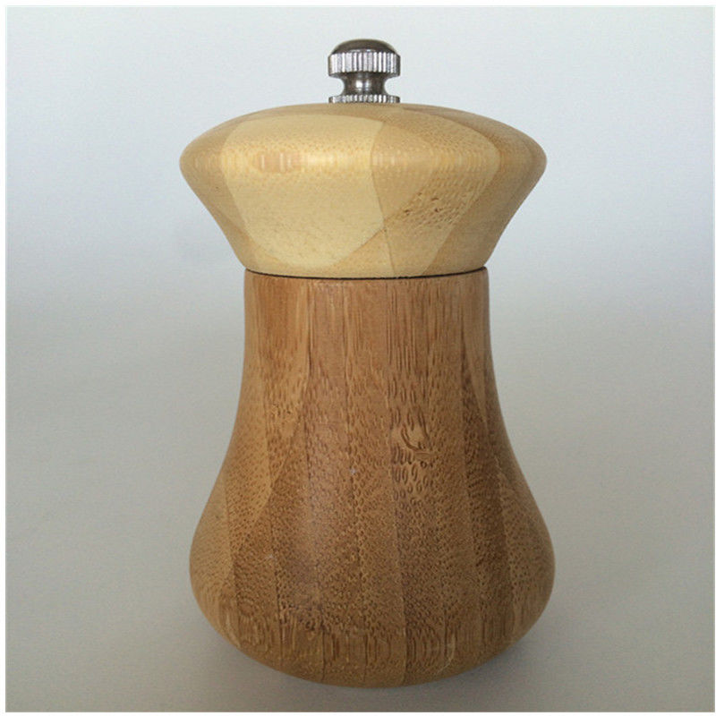 Bamboo Wooden Pepper Mill And Salt Shaker For Kitchen Cooking Tools